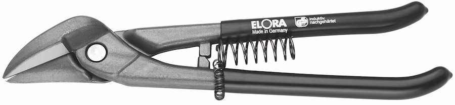 Kéo cắt tôn mỏ quạ 1484L, dùng cho người thuận tay trái. Sản xuất bởi ELORA Đức.