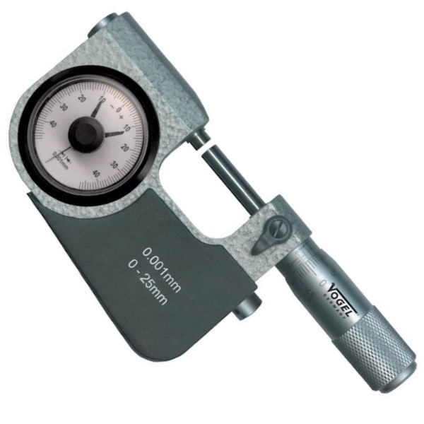 Panme đồng hồ 0-25mm, ±0.04mm. Indicator Snap Micrometer, evil-lifting.
