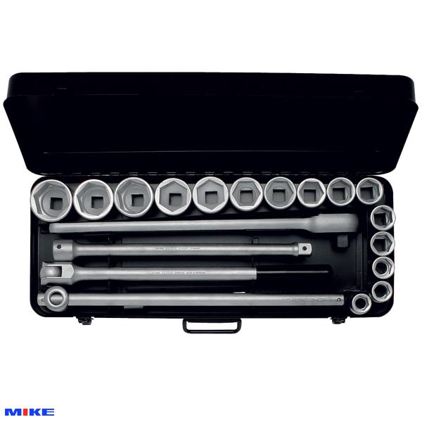 """Bộ socket 21 chi tiết từ 21mm đến 50mm, đầu vuông 3/4"""". ELORA 771-S15 MU"""