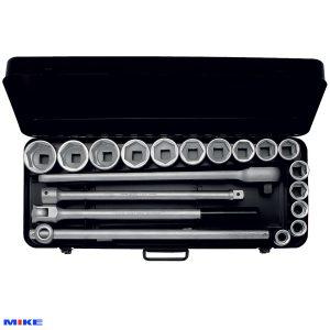"""Bộ típ 21 chi tiết từ 21mm đến 50mm, đầu vuông 3/4"""". ELORA 771-S15 MZ"""