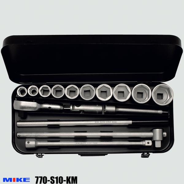 Bộ tuýp đa năng 16 chi tiết từ 22 đến 50mm, đầu vuông 3/4 inch, 12 cạnh. 770-S10KM