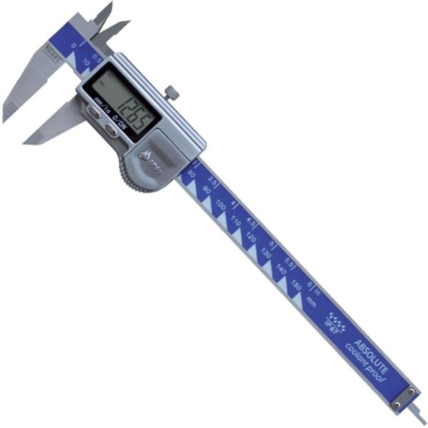 Thước cặp điện tử 150mm ±0.01mm, cấp bảo vệ IP67, nút nhấn kim loại.