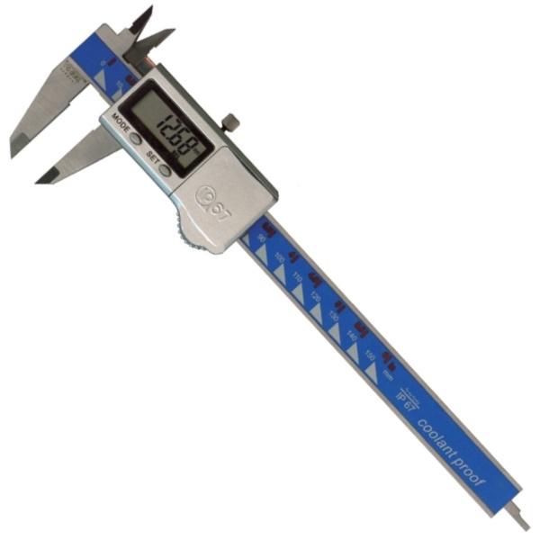 Thước cặp điện tử 150mm IP67, ±0.01mm. Chuyên dụng cho công nghiệp.