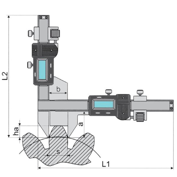 Thước kẹp điện tử đo bước ren M5 đến M50, độ chính xác 0.01mm.