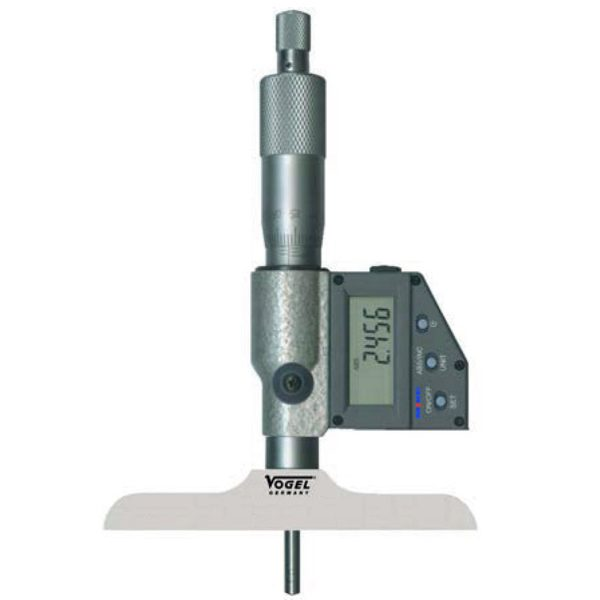 231832 panme đo sâu điện tử 0-75mm, độ chính xác 0.0001mm, 3 đầu đo.