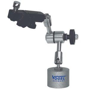 250304 chân đế gá đồng hồ so, đường kính 35x30mm, lực 120N, 100mm.