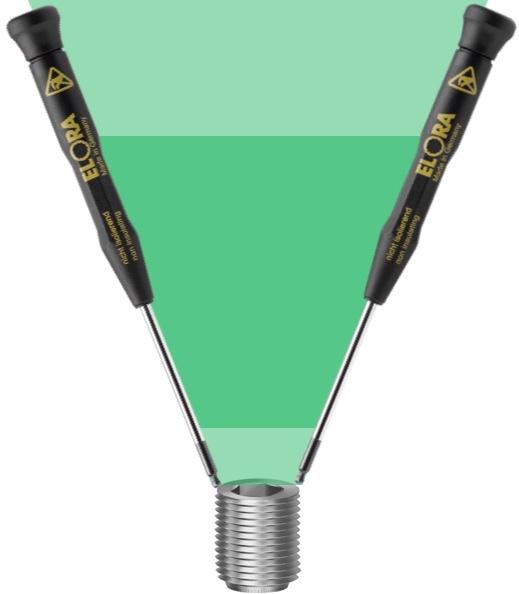 Tuốc nơ vít lục giác đầu bi chống tĩnh điện ESD, ELORA Germany.