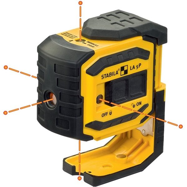 Máy laser 5 tia LA-5P, cân mực chuẩn, tia laser đứng, căn mức 5 trục, phạm vi 30m