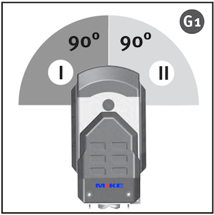 hiệu chỉnh góc đứng 90 độ cho LA-5P