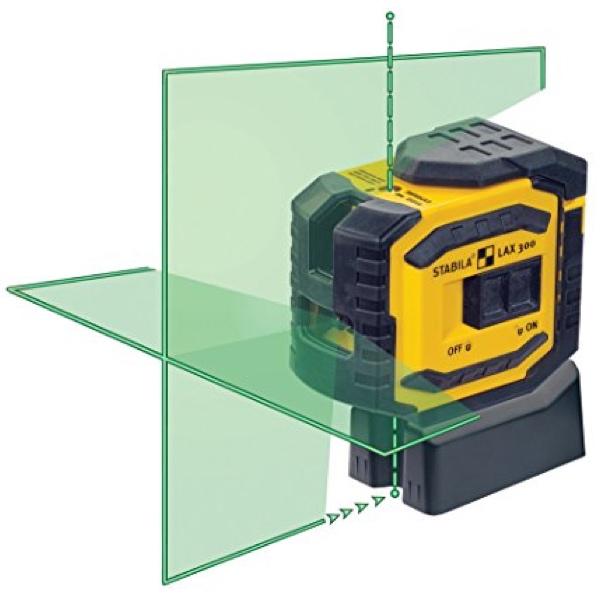 Máy cân mực laser tia xanh LAX300G, chức năng quả rọi, khoảng cách 30m, IP54.