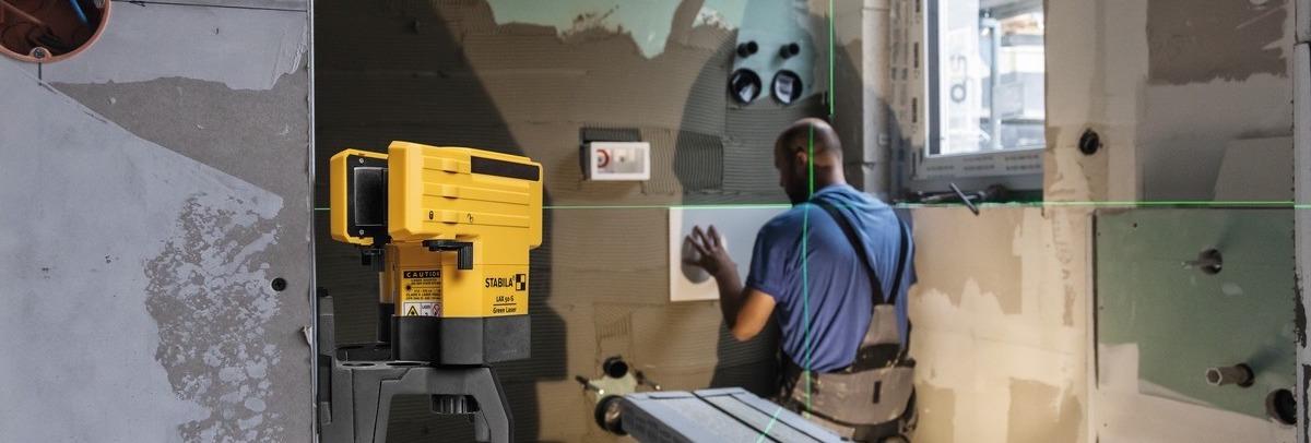 Ứng dụng máy laser tia xanh trong xây dựng LAX50G