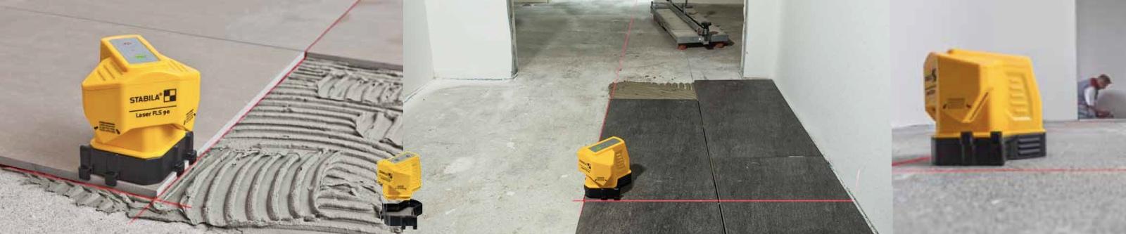 Ứng dụng lót sàn gạch, ốp gỗ của máy ke góc vuông bằng laser FLS90
