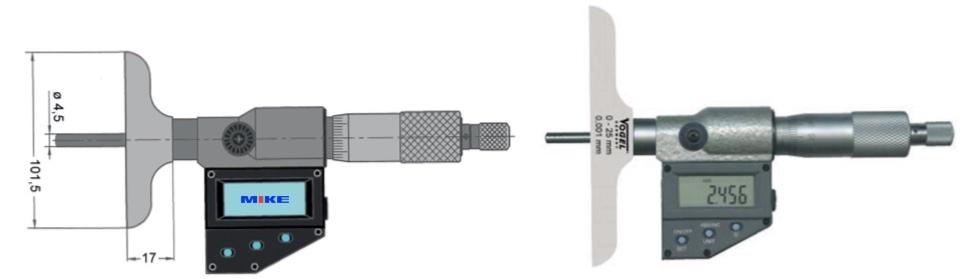 thước panme điện tử đo độ sâu Vogel Germany