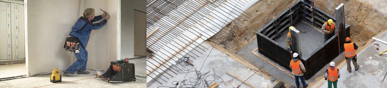 ứng dụng máy laser trong xây dựng. Stabila
