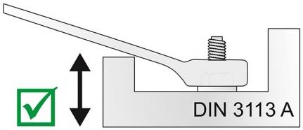 khóa vòng miệng loại ngắn DIN 3113A
