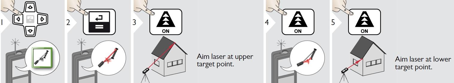 Đo độ dốc mái nhà bằng máy đo khoảng cách LD520