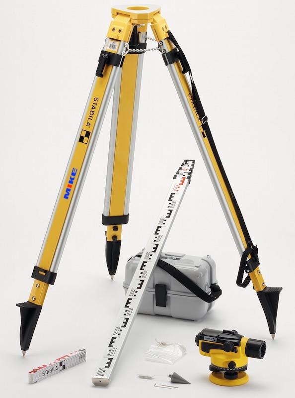 Bộ hoàn chỉnh máy thủy bình với chân máy, mia đi kèm Stabila OLS-26