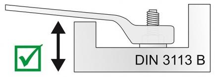 mô phòng chuẩn DIN 3113B của cờ lê vòng miệng