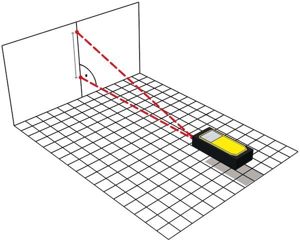 đo độ dài 1 cạnh góc vuông bằng máy đo khoảng cách Stabila