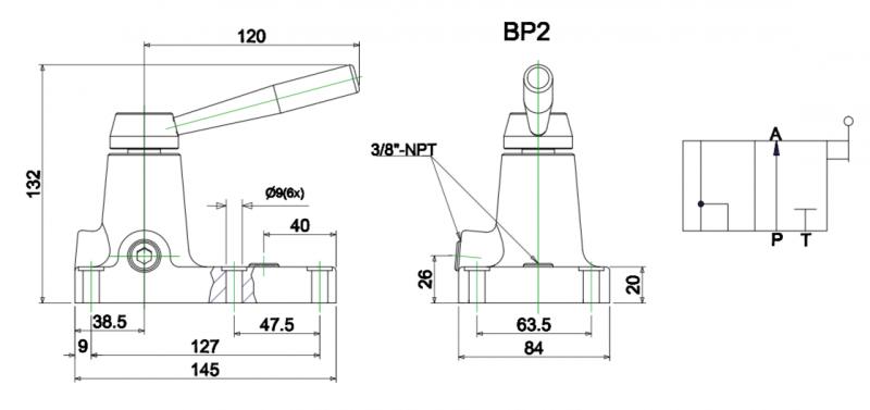Van điều khiển 3 hướng BP2 chi tiết