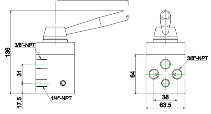 Van điều khiển 4 hướng BP422 chi tiết