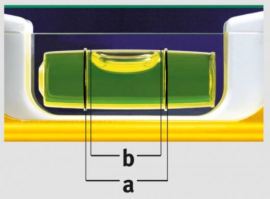 biên độ nhiệt độ của bọt khí do Stabila sản xuất.