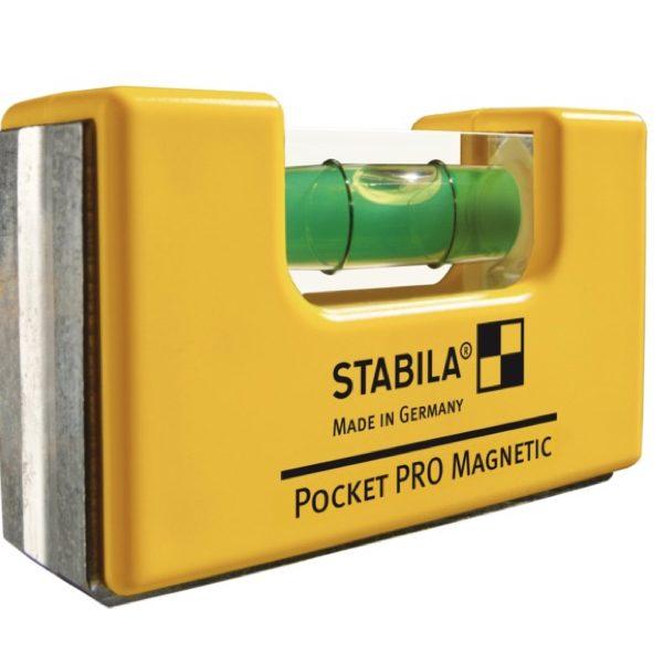 17953 Thước thủy nivo bỏ túi 7cm Stabila, đế từ tính Pocket PRO magnetic