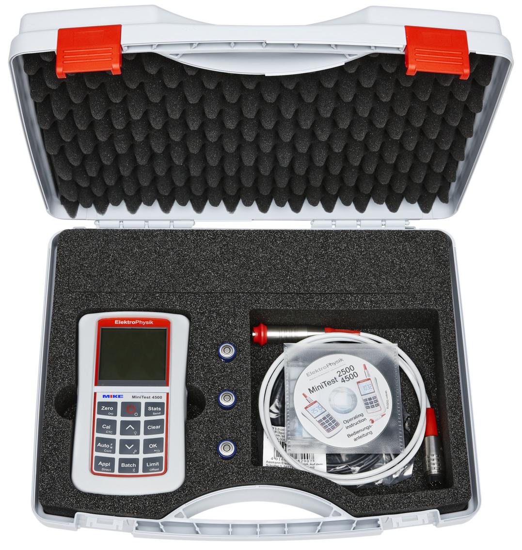 Bộ hoàn chỉnh máy đo độ dày lớp phủ Minitest 2500-4500