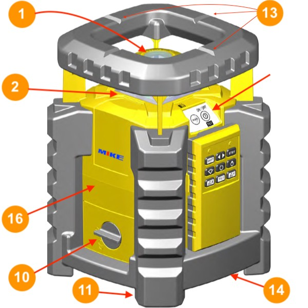 Cấu tạo máy cân bằng tia laser xoay LAR-350 Stabila Germany