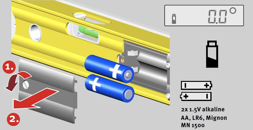 Cách tháo lắp pin của thước đo góc điện tử tech 700da