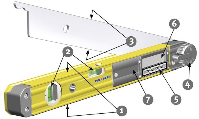 cấu tạo của thước đo góc điện tử Stabila