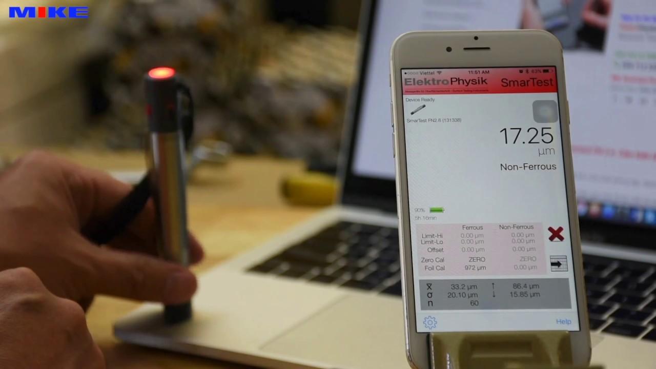 Smartest máy đo độ dày sơn không dây Elektrophysik