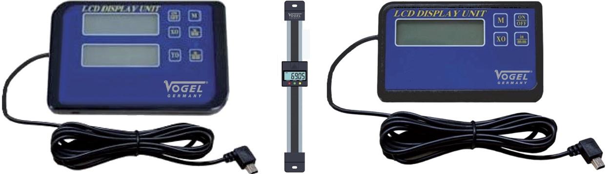 Thước đo hành trình, tọa độ, định vị quang học Digital Scales Vogel Germany