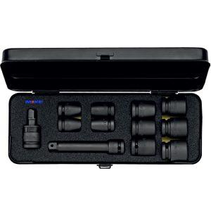 790-S12A bộ khẩu đen 12 chi tiết từ 3/8 đến 1 inch, sản xuất tại Đức