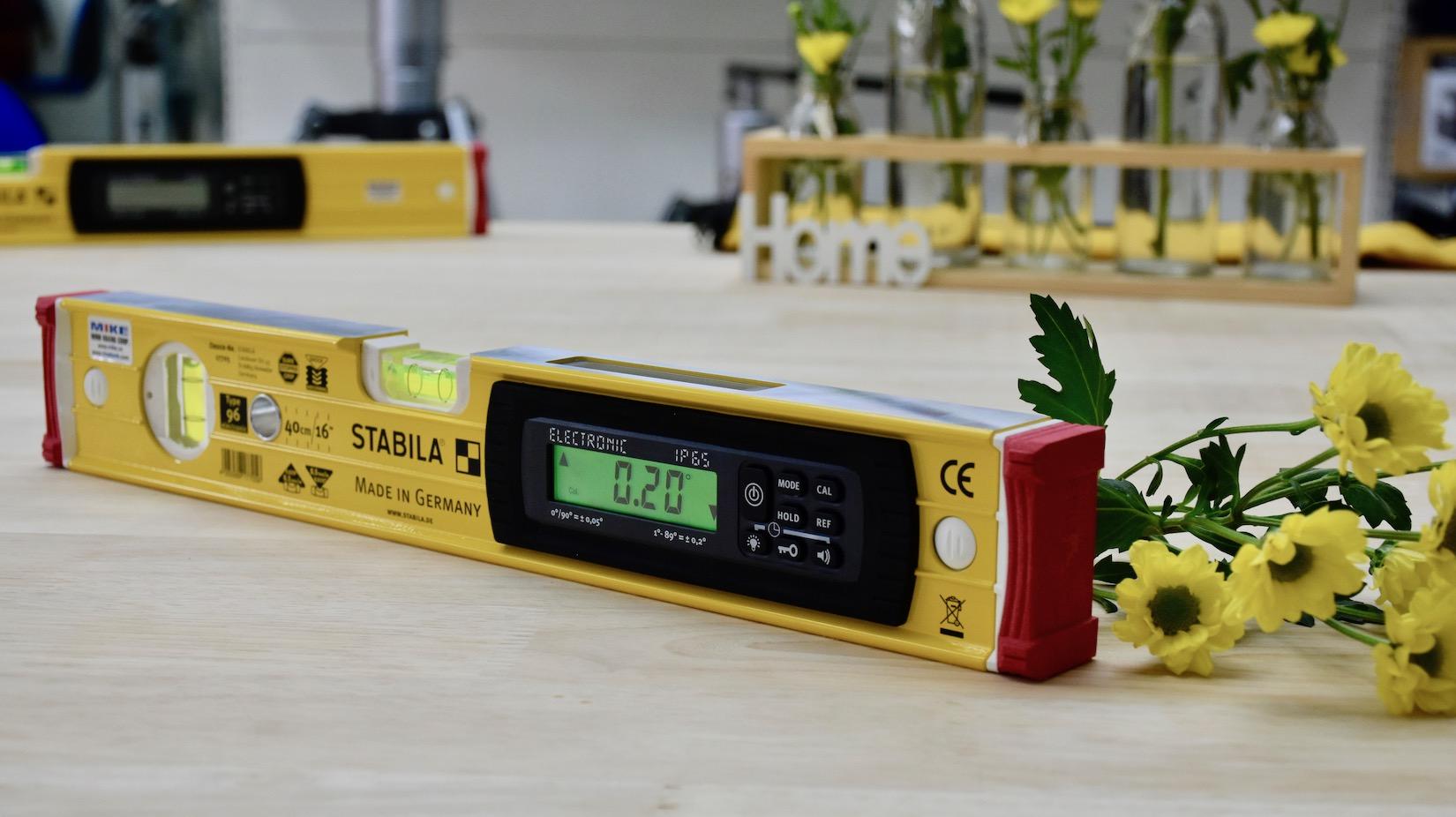Đáp ứng tiêu chuẩn Châu Âu đối với mọi loại nivo điện tử Stabila