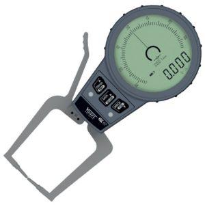 240551 đồng hồ điện tử đo độ dày có thang đo từ 0mm đến 15mm. Độ chính xác±0.001m, dung sai toàn tầm đo ±0.010mm. Vogel Germany. Đầu đo dạng S, đường kínhØ1.5mm hình lưỡi dao.