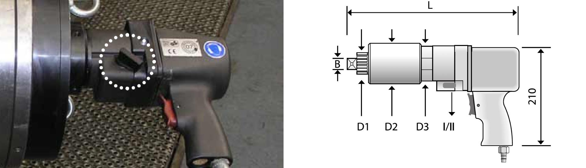 CLS2 chuyển cấp tốc độ trên cờ lê nhân lực Alkitronic