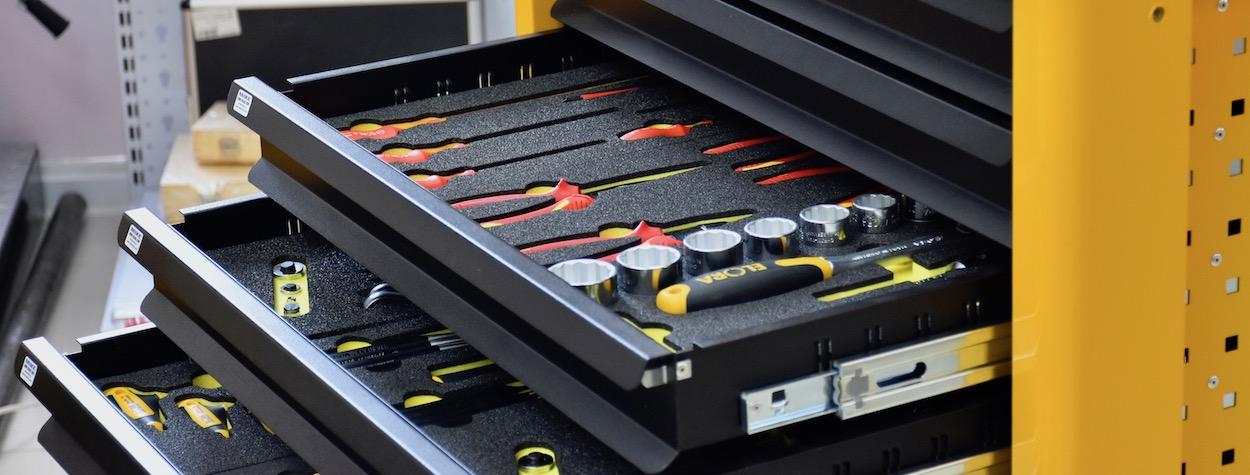 Chọn đồ nghề cho từng hộc tủ 8 ngăn Super Caddy
