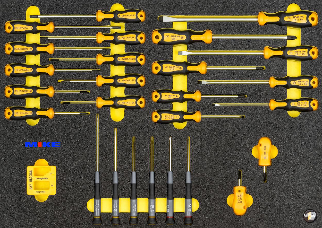 OMS-48 bộ tô vít đa năng 28 chi tiết đựng trong tủ đồ nghề