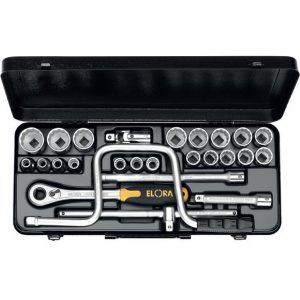 """770-LAU khẩu hệ inch 24 món từ 3/8 - 1.1/4"""", 1/2 inch"""