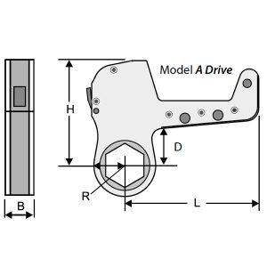 A Driver kích thước ngoài của đầu xiết ốc Alkitronic