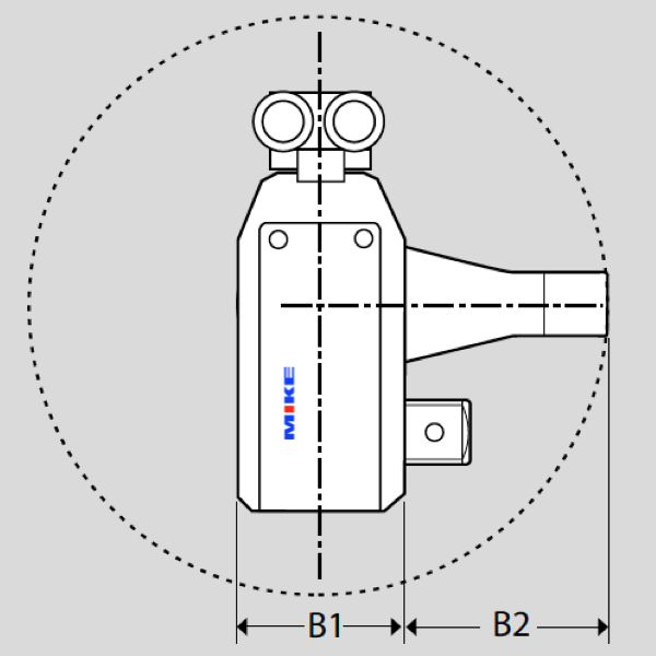 AT Series dimensions - Hydraulic Torque Wrench