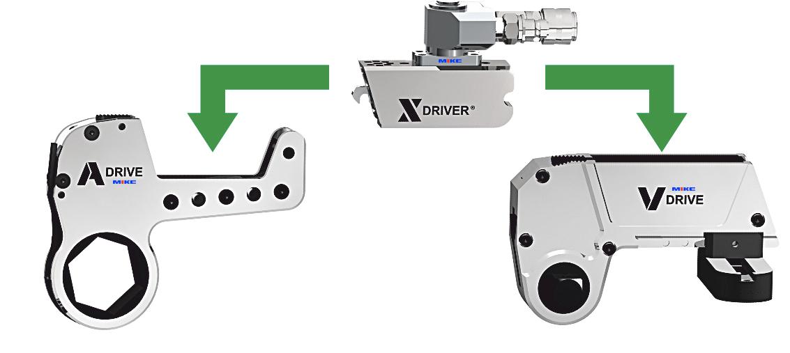 X-Driver đầu thủy lực cho dụng cụ xiết ốc