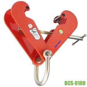 BCS-0100 kẹp dầm 1 tấn độ rộng cánh từ 75mm đến 210mm, Tiger Lifting. Chiều rộng lớn nhất cạnh ngoài của kẹp thay đổi từ 182 - 328mm. Hệ số an toàn 5:1, gắn sẵn miní có đường kính lỗ Ø81mm.