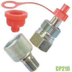 CP210 cặp co nối cho chân đồng hồ áp suất ren 1/4 inch NPT.