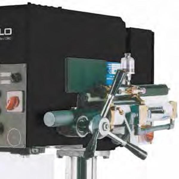 Cơ cấu khóa bằng khí nén trên máy khoan bàn ERLO